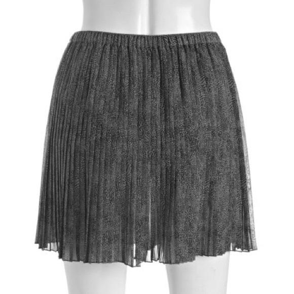 BCBGeneration Dresses & Skirts - BCBGenetation grey animal print chiffon skirt
