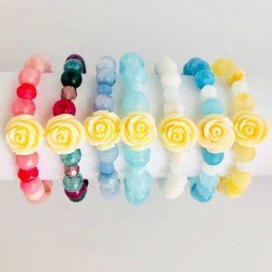 AGATE | Flower Beaded Bracelets
