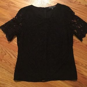 Women's Adrianna Papell black lace overlay blouse