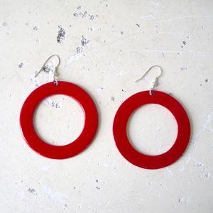 H&M x Pop Art Red 60s Hoop Earrings