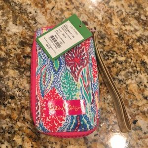 Lilly Pulitzer card ID smart phone Wristlet