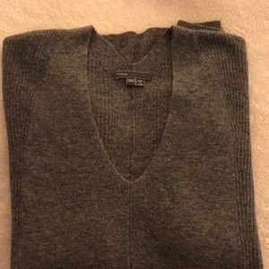 Vince Cashmere Double V Sweater