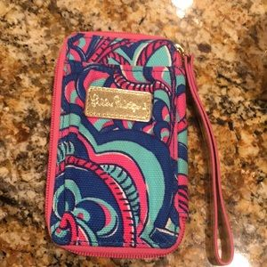 Lilly Pulitzer Wristlet, Id and phone