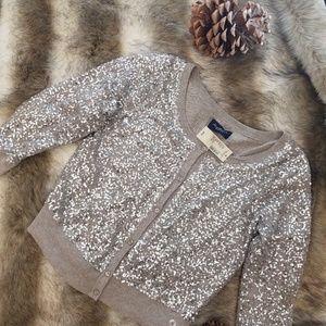 Silver sequins sweater  medium
