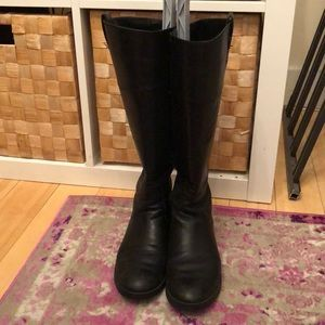 Ralph Lauren black leather riding boots