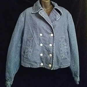 Nautica padded blue denim jacket-sz L
