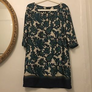 Mango Floral Silk Dress