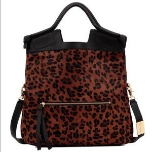 Foley + Corinna Mid City Tote in Leopard Haircalf