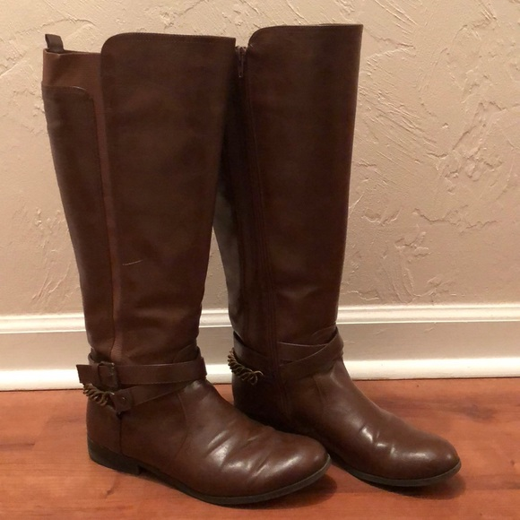 6141e2927da Unisa Womens Brown Tall Wide Calf Boots in 2019 My Posh Closet
