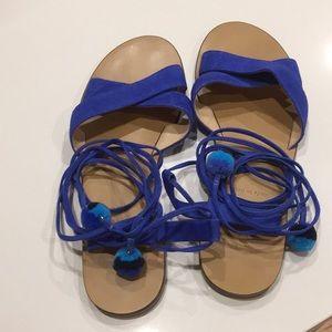 J crew tie sandals