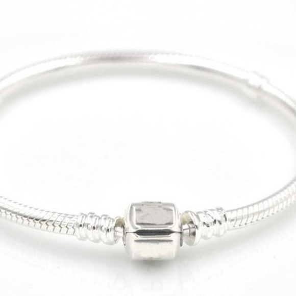 Unbranded Jewelry - 3mm 19cm Silver Plated Bracelet Snake Chain