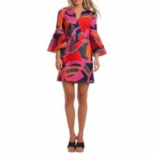 Trina Turk Pali Bell Sleeve Dress Fall Collection