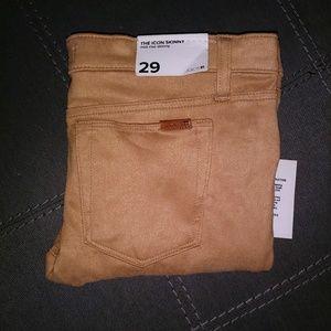 NWT Joe's The Icon Skinny Suede Pants