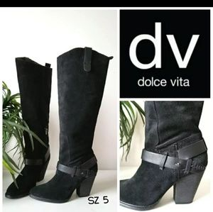 Dolce Vita Knee High Suede Boots Size 5