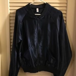 American Apparel midnight blue silky jacket