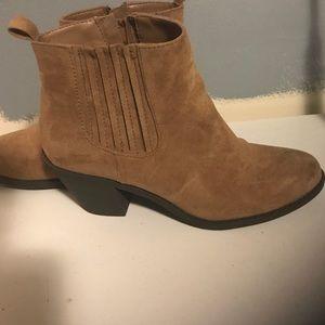 F21 brown suede booties