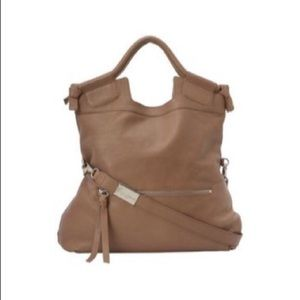 Corina and foley mid city tote in latte