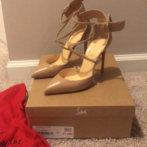 85aeadd99db5 Christian Louboutin Shoes - Christian Louboutin Suzanna 100 Nappa Nude Size  37