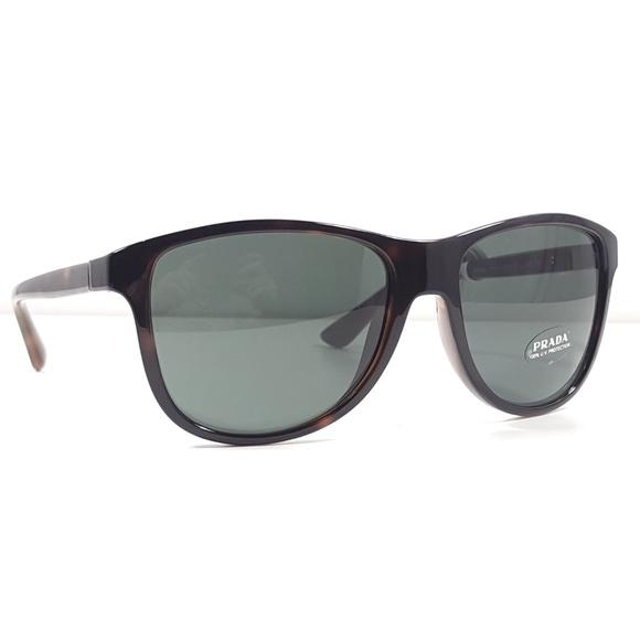 19bc9b47bf906 PRADA PR 06OS Sunglasses Color 2AU3O1 Havana Green