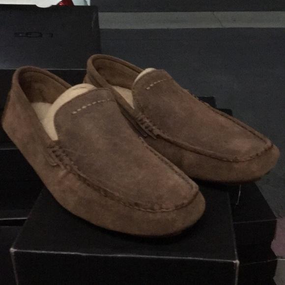 63ba032db06 New Ugg Hedrick suede chestnut moccasin shoes ❤️🔥