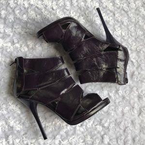 Shoes - PURPLE PEEP TOE CAGED HEEL