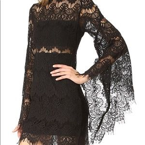 Mink Pink lace bell sleeve dress