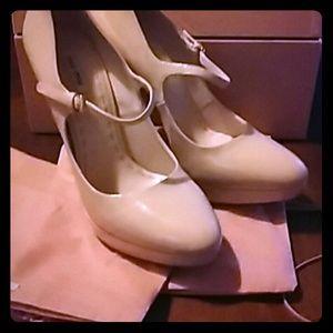 MIU MIU Light Pink/Beige Mary Janes