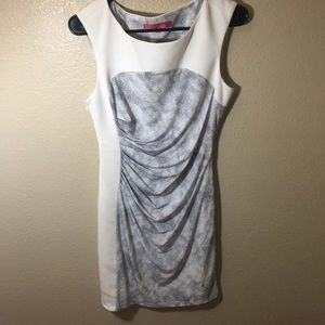 Catherine Malandrino white/Gray sheath dress 8