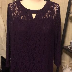 Chocolate brown lace dress.  Sassy for sure