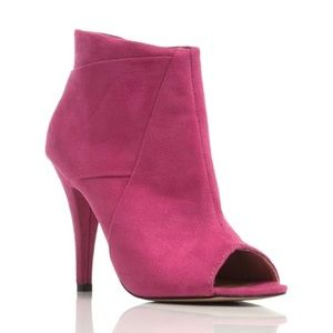 Hot Pink Peep Toe Booties