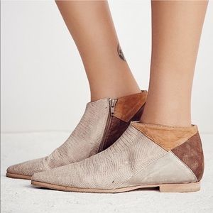 Free People Desert Rider Destructed Ankle Bootie