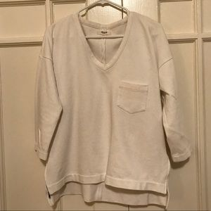 Madewell v-neck pullover size M