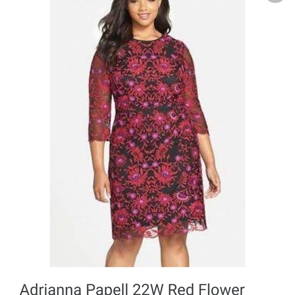853b84c8975d Adrianna Papell Dresses | Size 22 Embroidered Floral Dress | Poshmark
