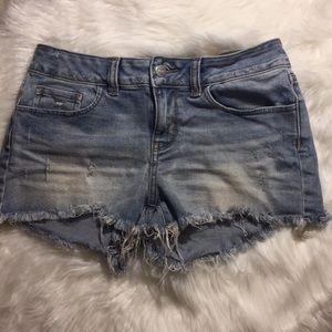 VS Pink Cutoff Distressed Shorts