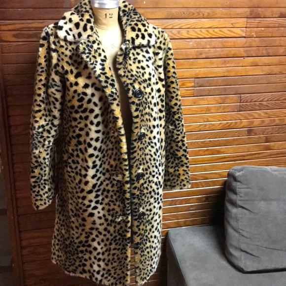 48c26c1a8c92 Portrait Jackets & Coats | Vintage Cheetah Faux Fur Long Coat | Poshmark