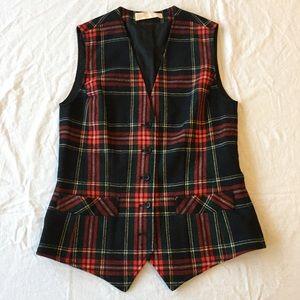 .Pendleton. Plaid vintage 100% wool Christmas vest