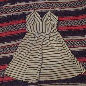 Gorgeous black striped dress