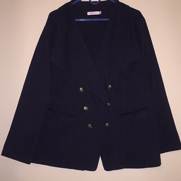 71ef674cf1c JustFab Jackets   Blazers - Black faux suede plus size Military Jacket
