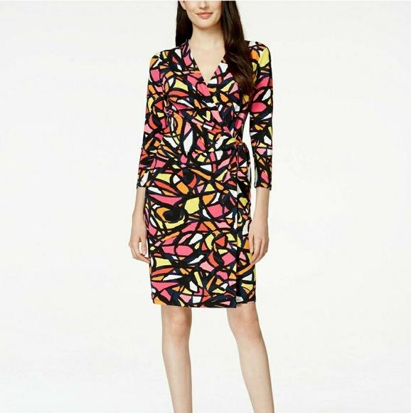 5ec083b2ea0 Anne Klein Dresses   Skirts - Anne Klein Printed Twist Faux Wrap Dress XL  NWT