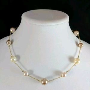 Faux Pearl Chocker Necklace