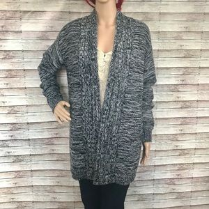 14th & Union Black and Gray Cardigan Sweater