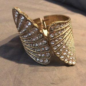 Gold & Diamond Cuff