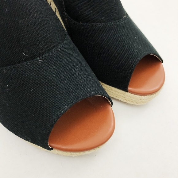 Comfortview Shoes - Comfortview Black Canvas Espadrille, Bootie Wedges