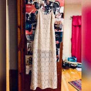 Wet Seal White Lace Maxi Dress