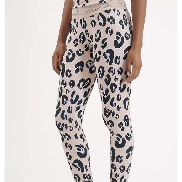 d4a4a9f760e Adidas by Stella McCartney Pants | Leopard Print Leggings By Adidas ...