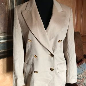 Escasa Angora Wool Jacket Coat Blazer
