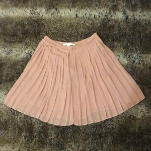 Pleated blush skirt