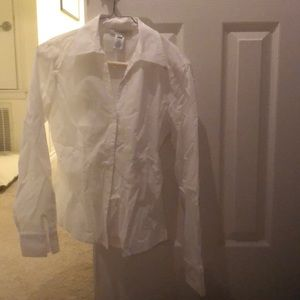 White fitted dress shirt