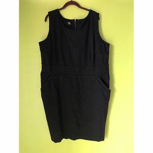 Alfani Sleeveless Sheath Stretch Black Dress 24W