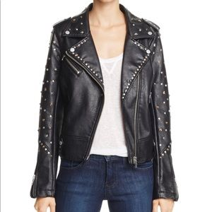 NWT [blank nyc] studded faux leather jacket